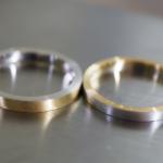 マリッジリングの制作風景 プラチナ、ゴールド、コンビリング 屋久島でつくる結婚指輪